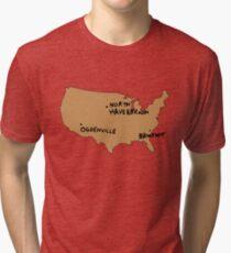 Ogdenville, North Haverbrook and Brockway Tri-blend T-Shirt