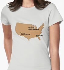 Ogdenville, North Haverbrook and Brockway Women's Fitted T-Shirt