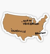 Ogdenville, North Haverbrook and Brockway Sticker