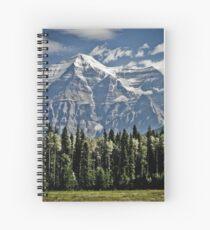Mount Robson British Columbia Spiral Notebook