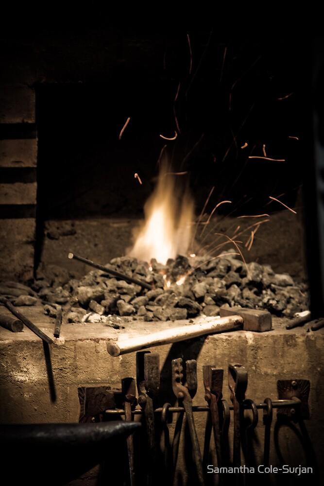 Mont De Lancey Blacksmithing 5 by Samantha Cole-Surjan