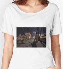 Infrared Bridge - 2 (blue) Women's Relaxed Fit T-Shirt