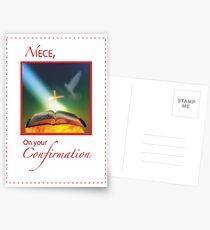Niece Confirmation Dove, Bible, Cross Postcards