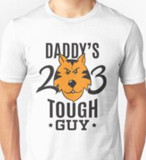 Daddy's Tough Guy - Tiger - Kid's Sports Football Baseball Backetball  T-Shirt