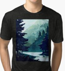 Canadian Mountain Tri-blend T-Shirt