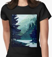Canadian Mountain Womens Fitted T-Shirt