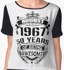 august 1967 50 years of being awesome Chiffon Top