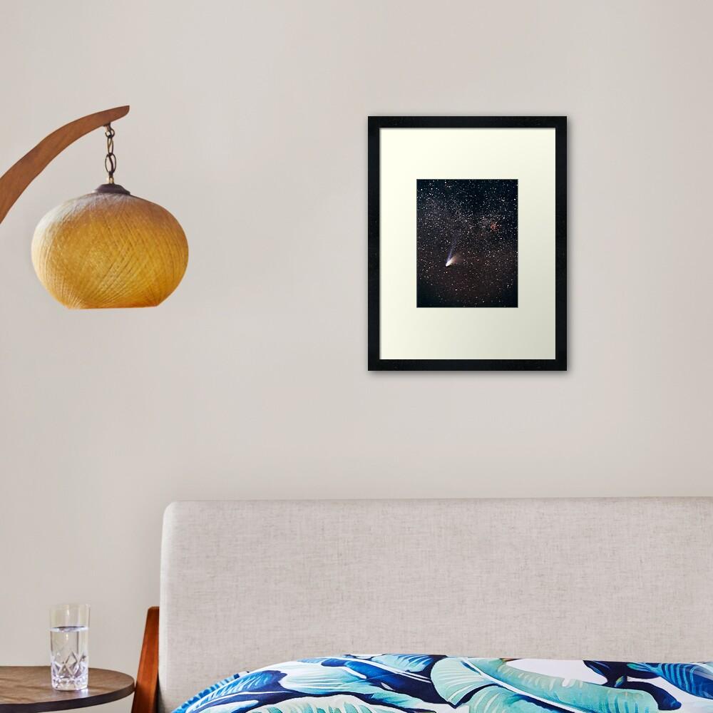 Comet Hale-Bopp Framed Art Print