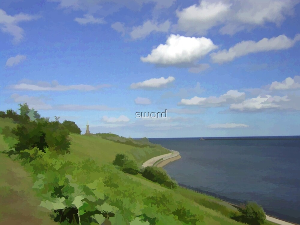 Mouth of the river Tyne by sword
