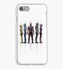 Power Rangers Color Splashed iPhone Case/Skin