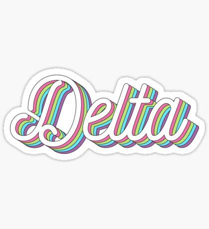 Capas 3D - delta Pegatina