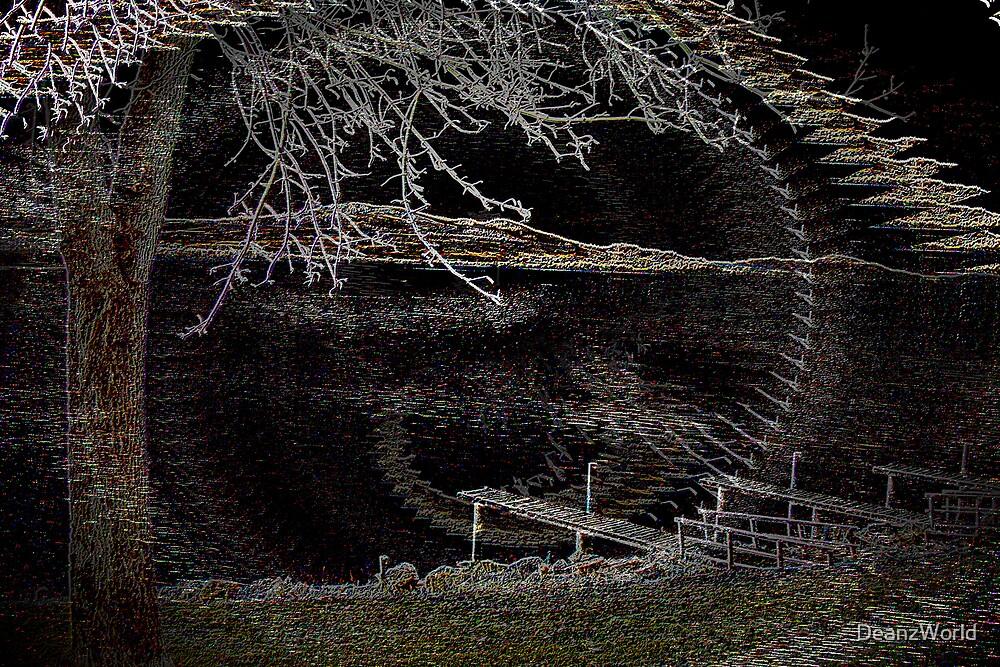 Flathead Lake Neon Illusion by DeanzWorld
