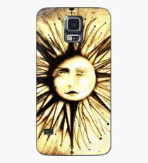 op art sun face astrology stars deco man in moon art  Case/Skin for Samsung Galaxy