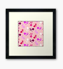 Pole dance print Framed Print