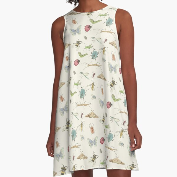 Insect Pattern A-Line Dress