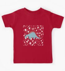 Stegosaurus of love- hearts and kisses Kids Tee