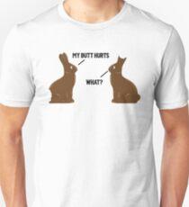 Mein Hintern tut weh, was - Lustiges Ostern Slim Fit T-Shirt