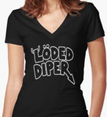 Funny Loded Diper Women's Fitted V-Neck T-Shirt