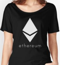 Ethereum Pure White Diamond Women's Relaxed Fit T-Shirt