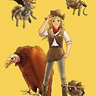 Tammy And Her Critters Tame The West by reynoldjay