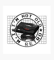 I'm not old, I'm Retro (Sega Genesis Megadrive) Photographic Print