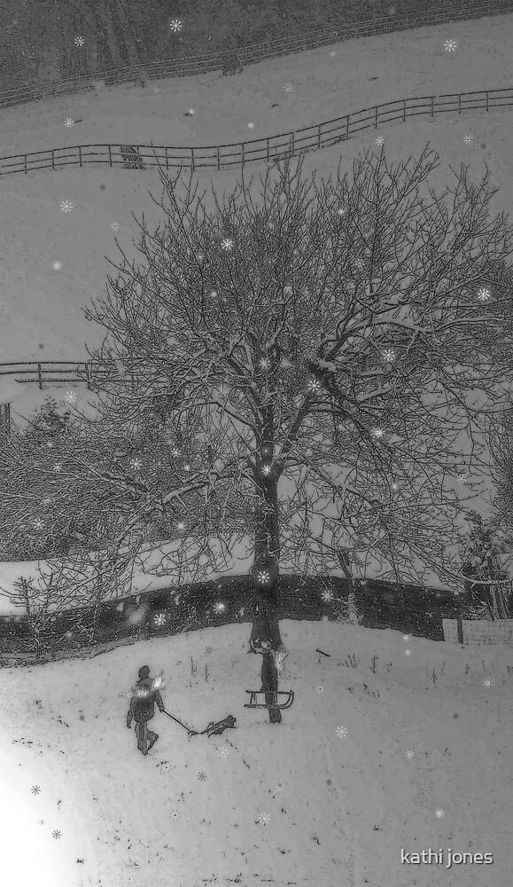 winter snow by kathi jones