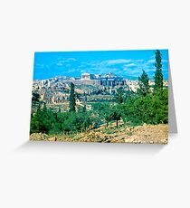 Athenian Acropolis from Philopappou Hill, 1960 Greeting Card