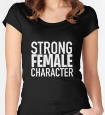 Strong Female Character ver.white Women's Fitted Scoop T-Shirt