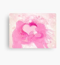 Cute couple in love Canvas Print