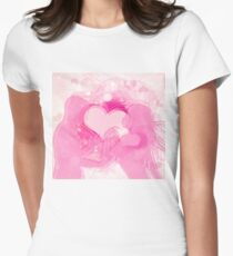 Cute couple in love Womens Fitted T-Shirt