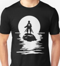 Eren Yeager Attack on Titan T-shirt River Moon Anime One Piece Dragon Ball One Punch Man  Unisex T-Shirt