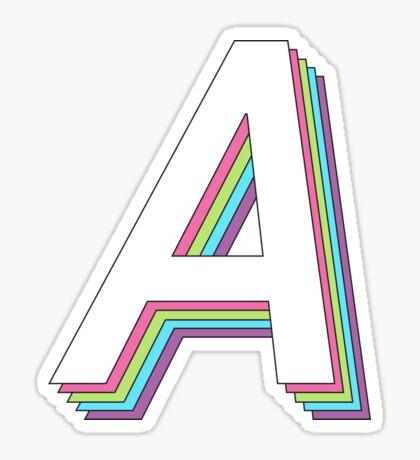 3D en capas 2.0 - alfa Pegatina