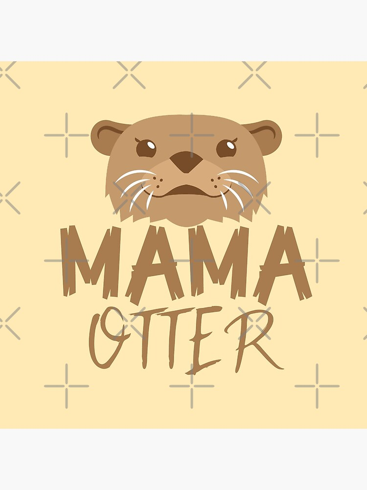 MAMA OTTER (with matching Papa Otter and Baby Otter) by jazzydevil