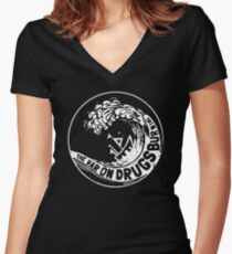 the wars on drugs Women's Fitted V-Neck T-Shirt