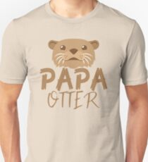 PAPA OTTER (with matching Mama Otter and Baby Otter) T-Shirt