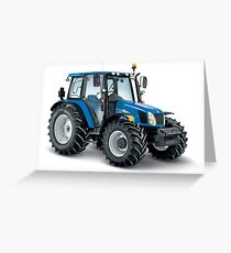 Modern Tractor  Greeting Card