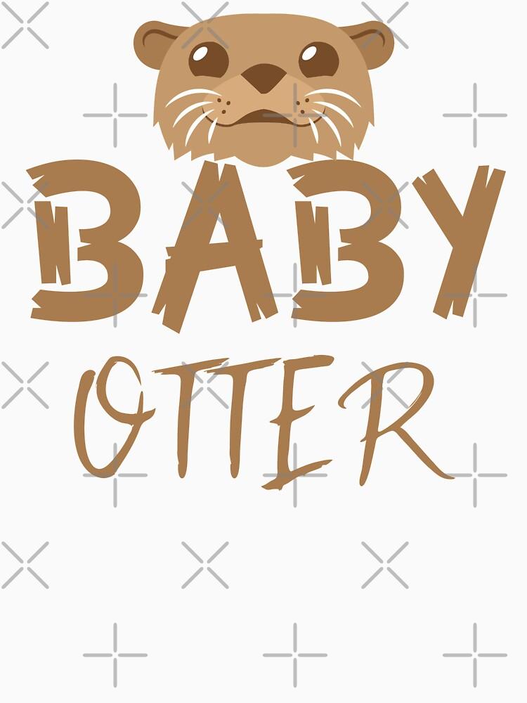 BABY OTTER (con la correspondiente mamá Nutria y Papa Otter) de jazzydevil