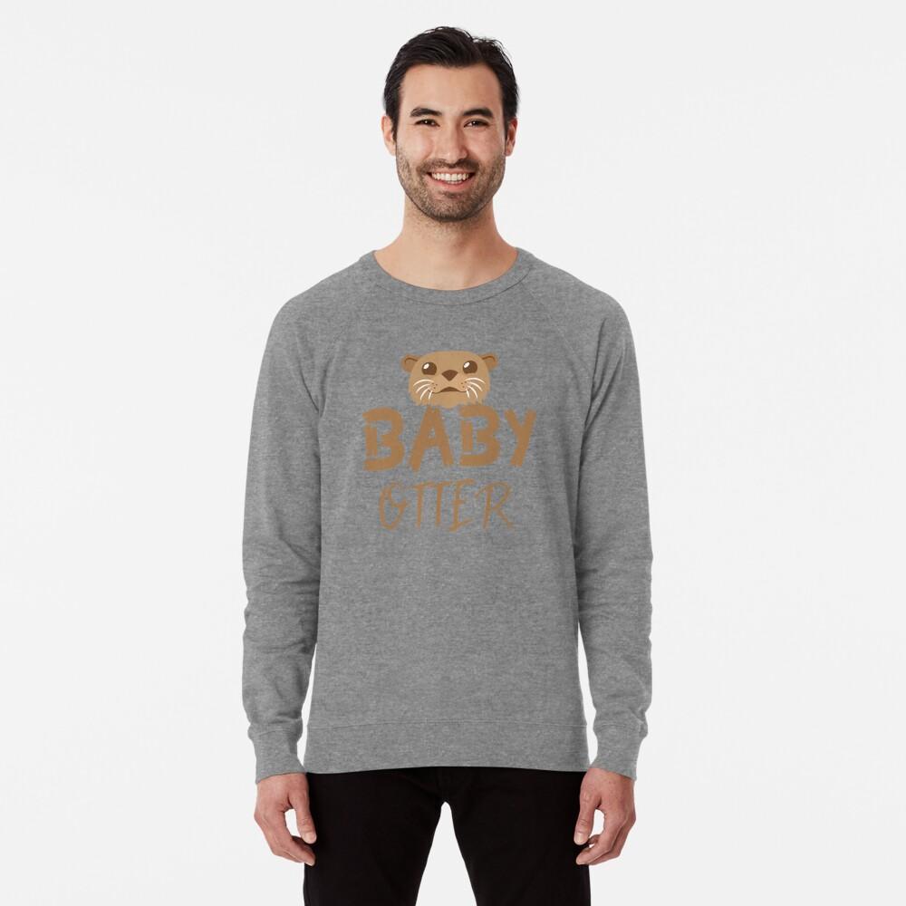 BABY OTTER (con la correspondiente mamá Nutria y Papa Otter) Sudadera ligera