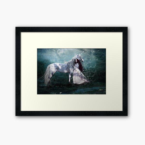 Faith of the unicorn Framed Art Print