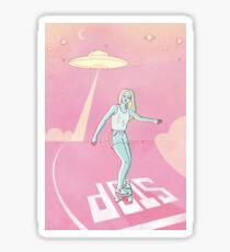sk8 sci-fi Sticker