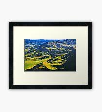 green hills landscape, location - New Zealand Framed Print