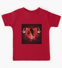 Female silhouette with a heart Kids Tee