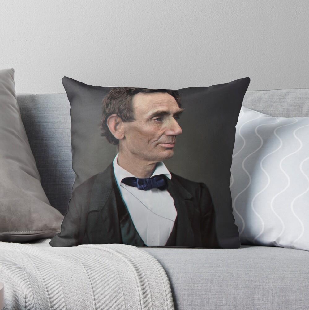 Abraham Lincoln, circa 1863 Throw Pillow