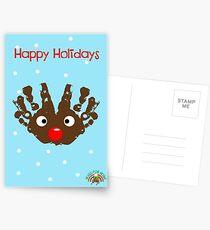 #HugsForNoah Rudolph Happy Holidays Postcards