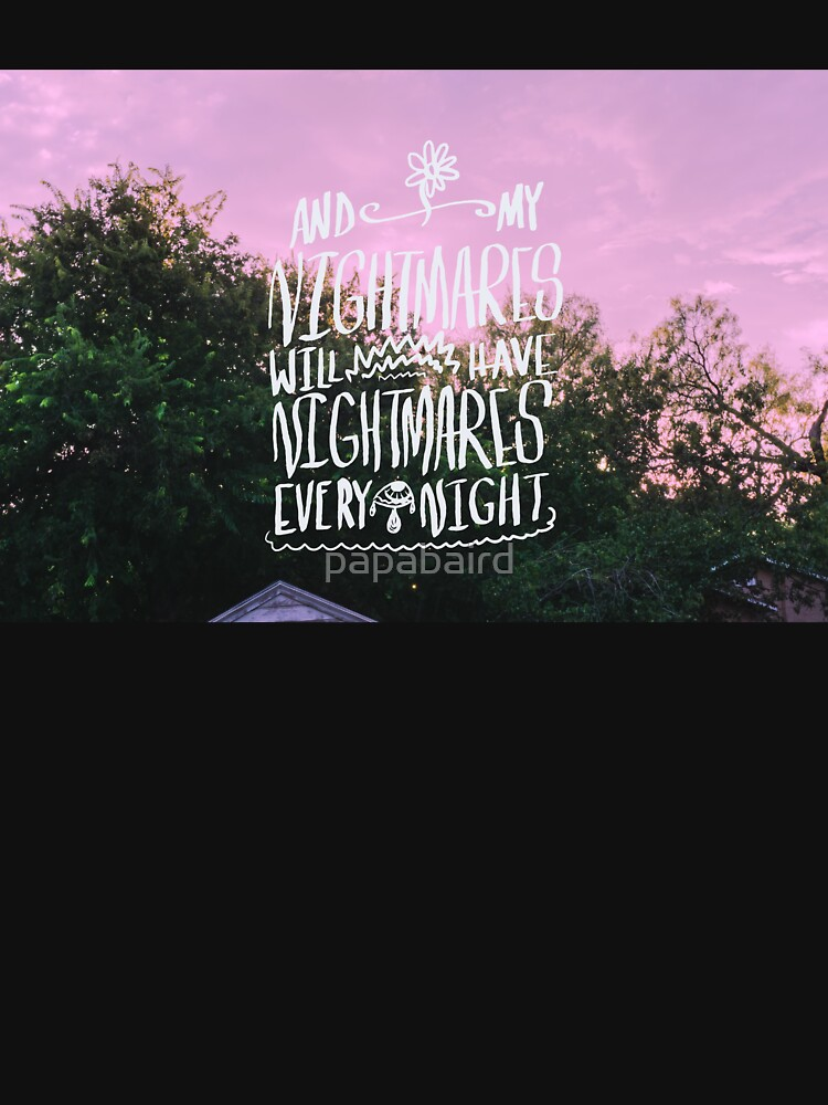 Quot Nightmares The Front Bottoms Lyrics Original Piece Quot T