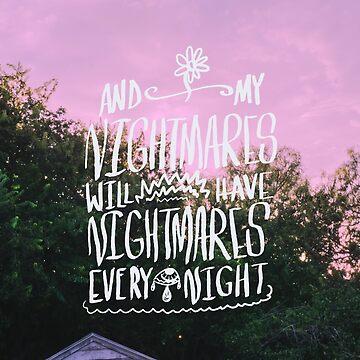 Nightmares - The Front Bottoms Lyrics Original Piece by papabaird