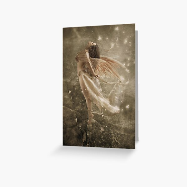 Angel Zadkiel Going with the wind Greeting Card