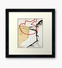 mapping myself1 Framed Print