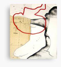 mapping myself1 Canvas Print