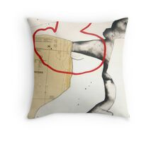 mapping myself1 Throw Pillow